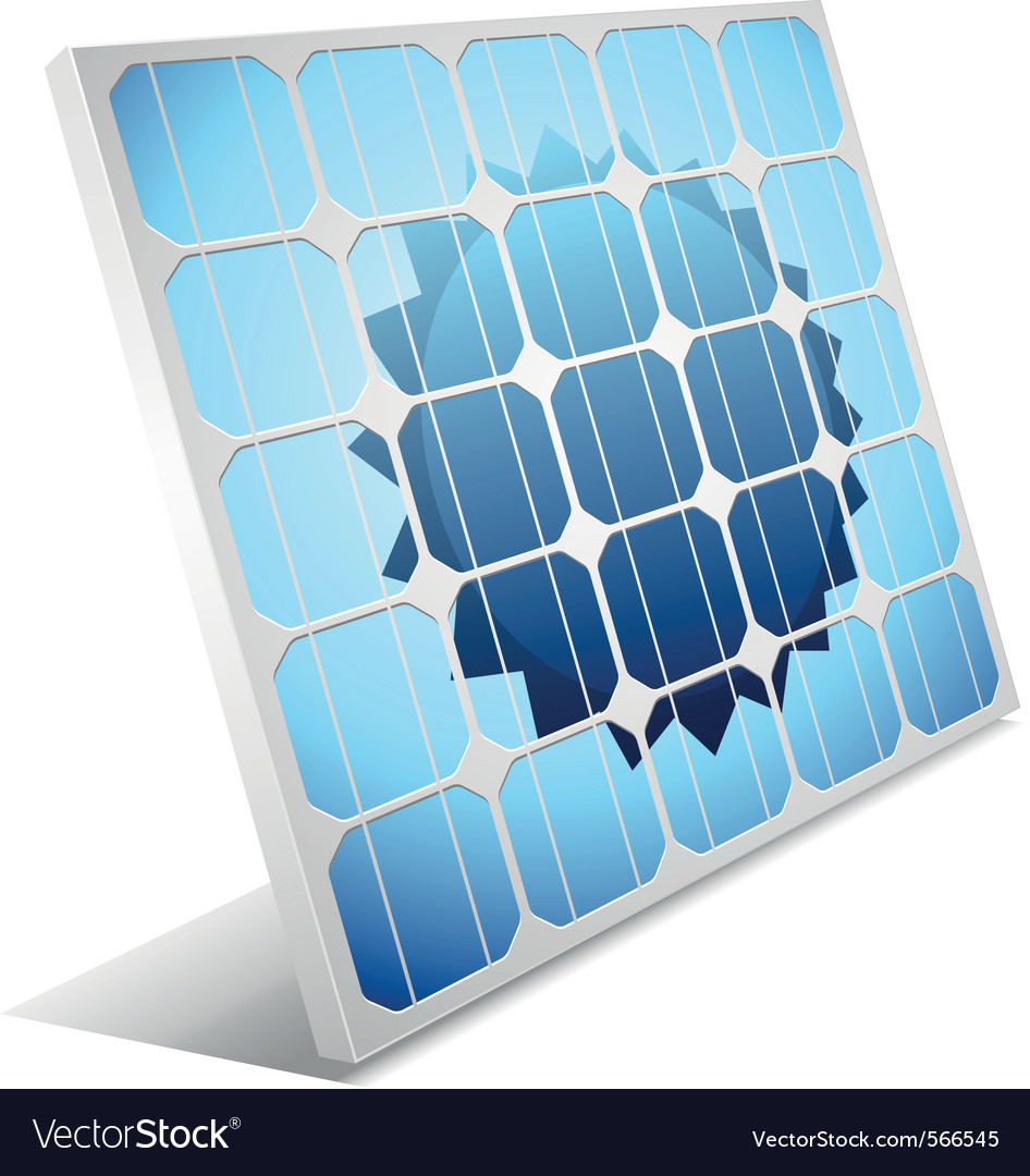 Solar panel vector | Price: 1 Credit (USD $1)