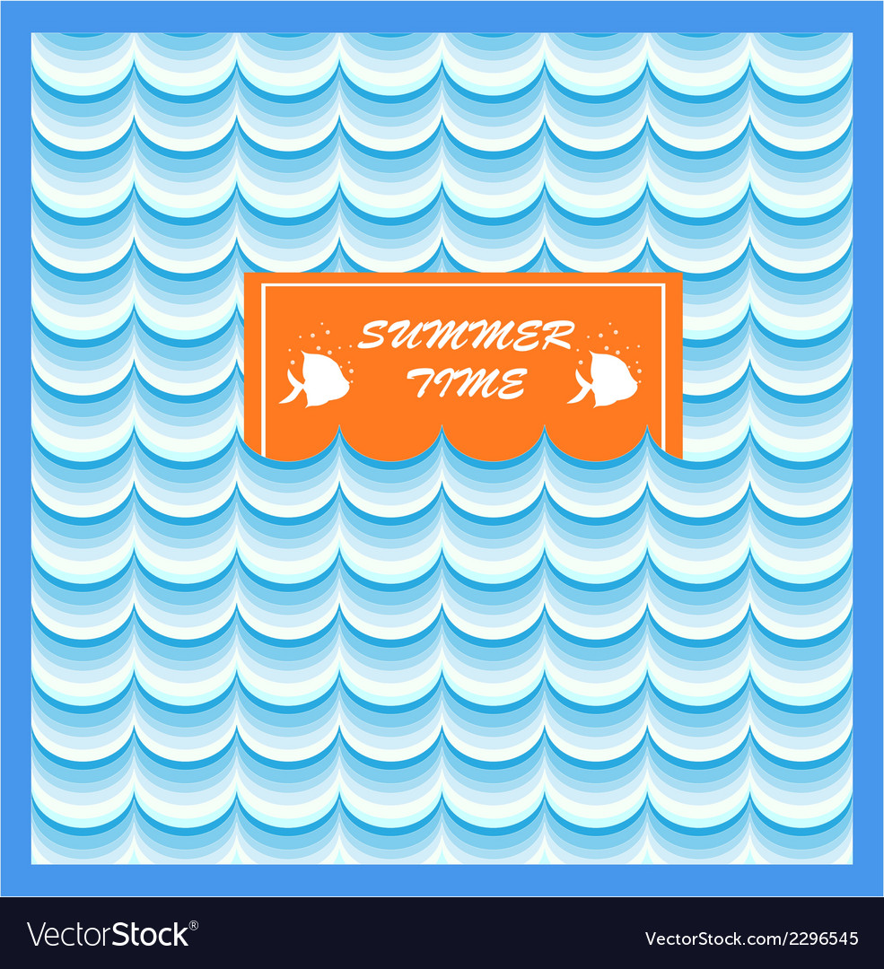 Summer card print vector | Price: 1 Credit (USD $1)