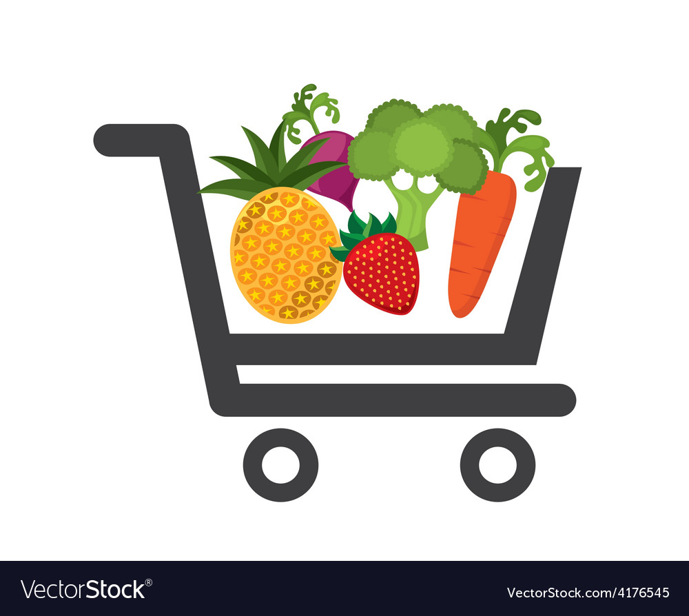 Vegetable market vector | Price: 1 Credit (USD $1)