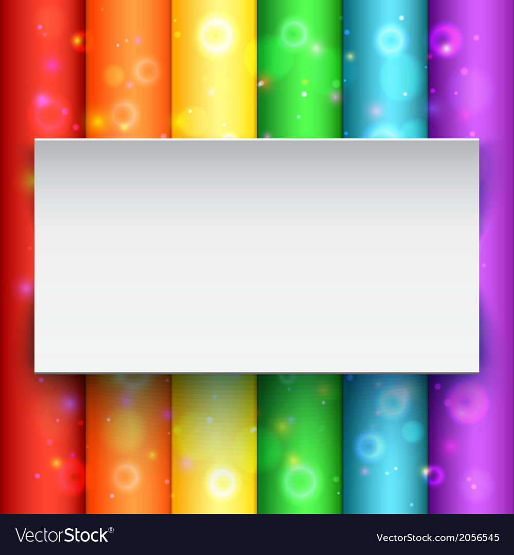 White banner on abstract background vector | Price: 1 Credit (USD $1)