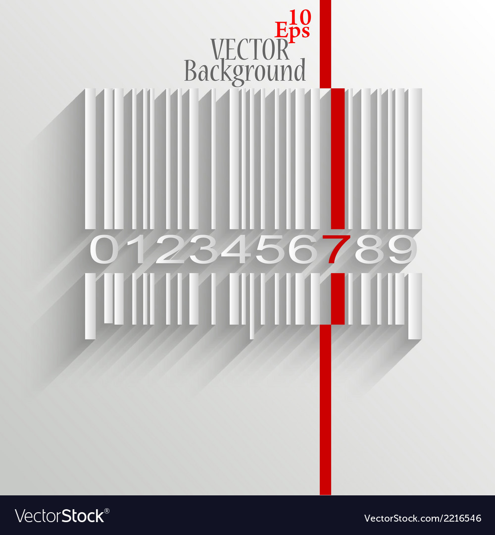 Barcode image on white background vector | Price: 1 Credit (USD $1)