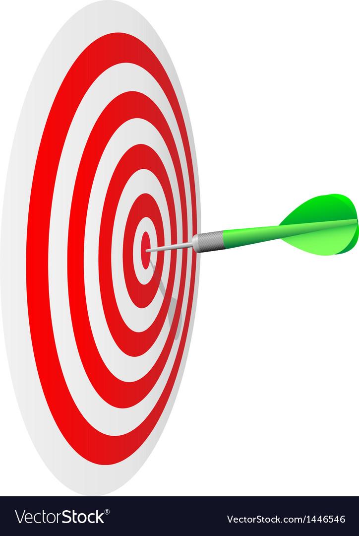 Darts hit the bulls eye vector | Price: 1 Credit (USD $1)