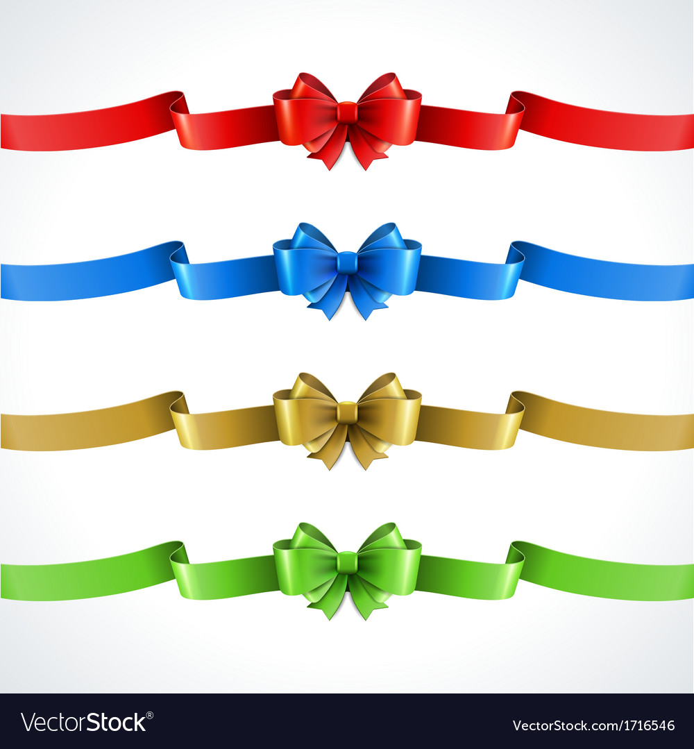 Gift bow and ribbon set vector | Price: 1 Credit (USD $1)