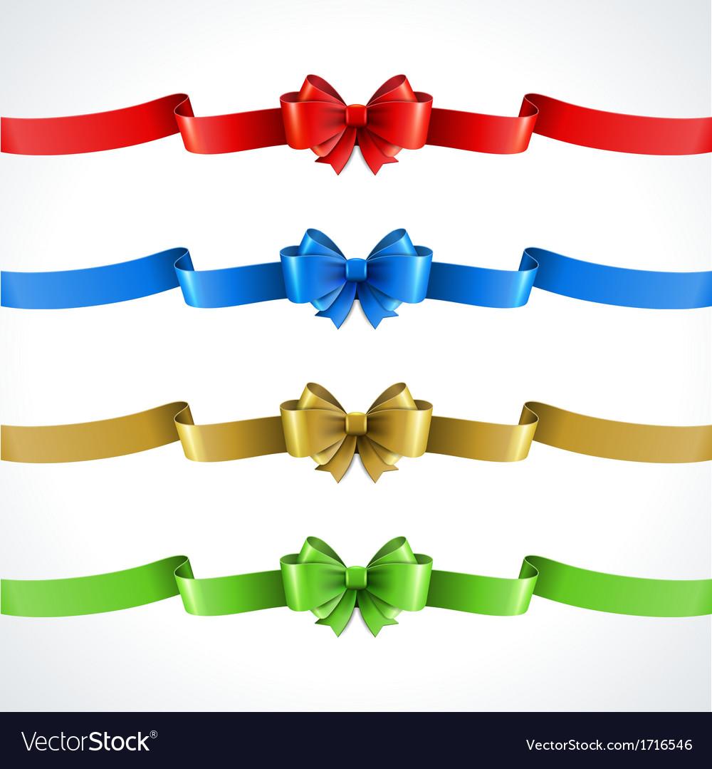 Gift bow and ribbon set vector   Price: 1 Credit (USD $1)