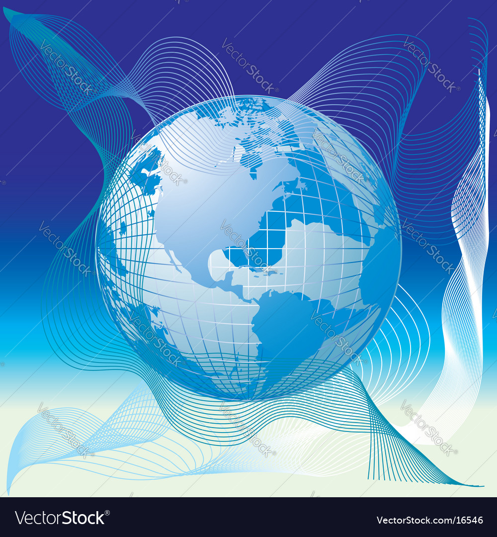 Globe world map abstract background vector | Price: 1 Credit (USD $1)