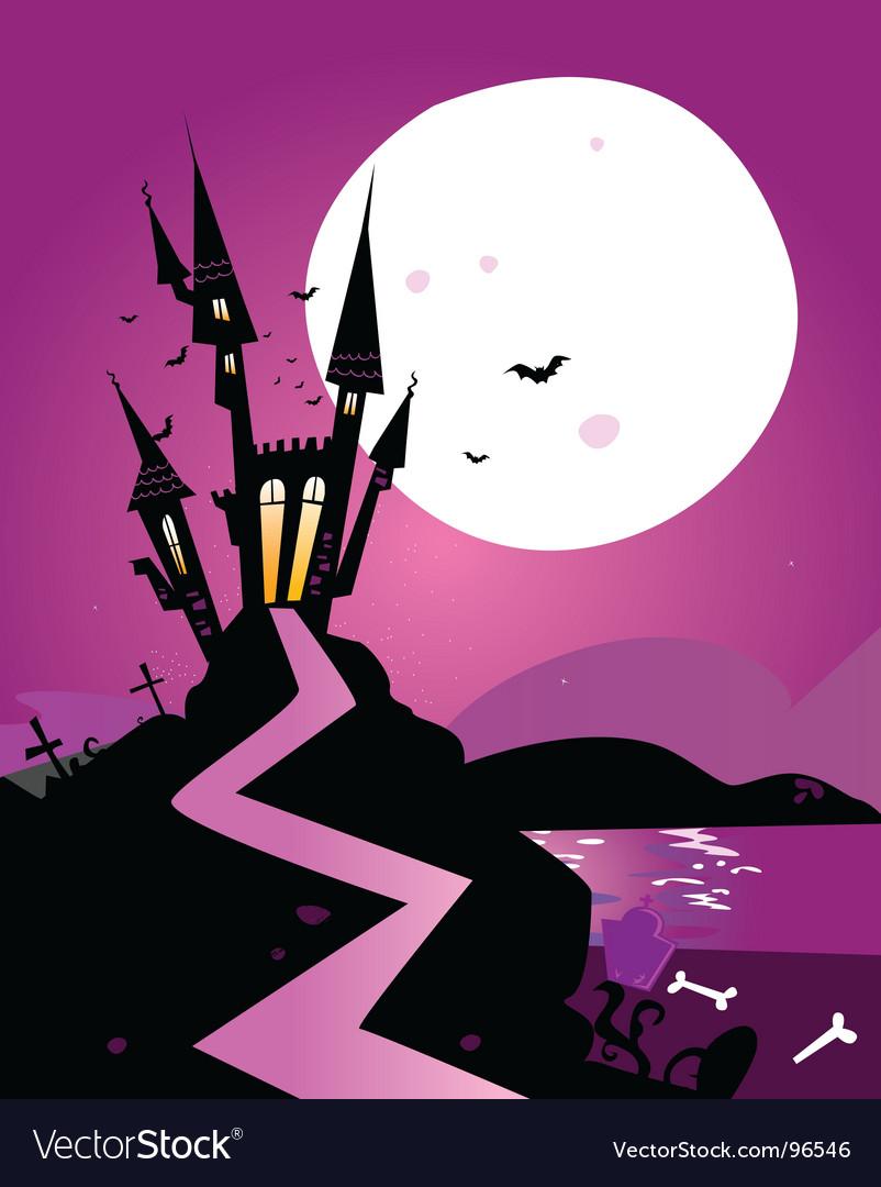 Haunted castle vector   Price: 1 Credit (USD $1)