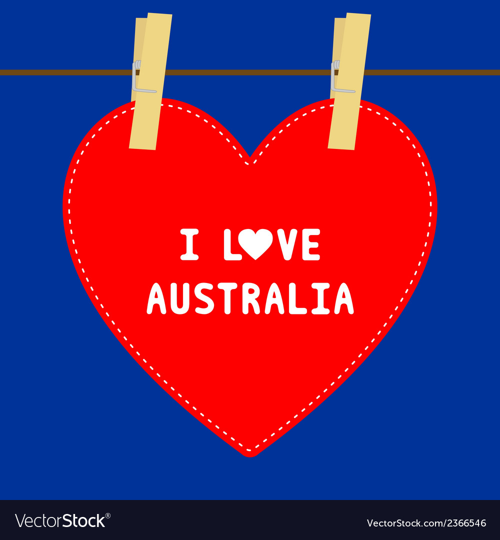 I love australia5 vector | Price: 1 Credit (USD $1)