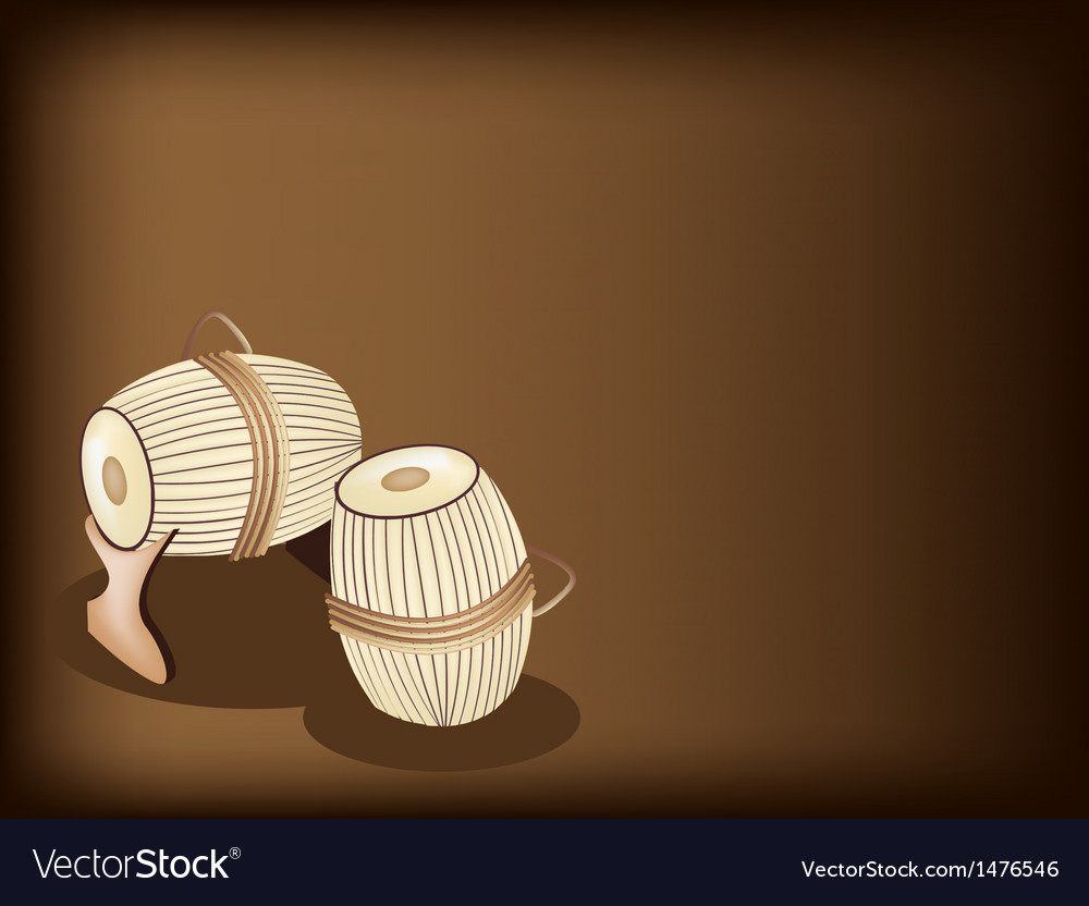 Sampho drum brown background vector | Price: 1 Credit (USD $1)