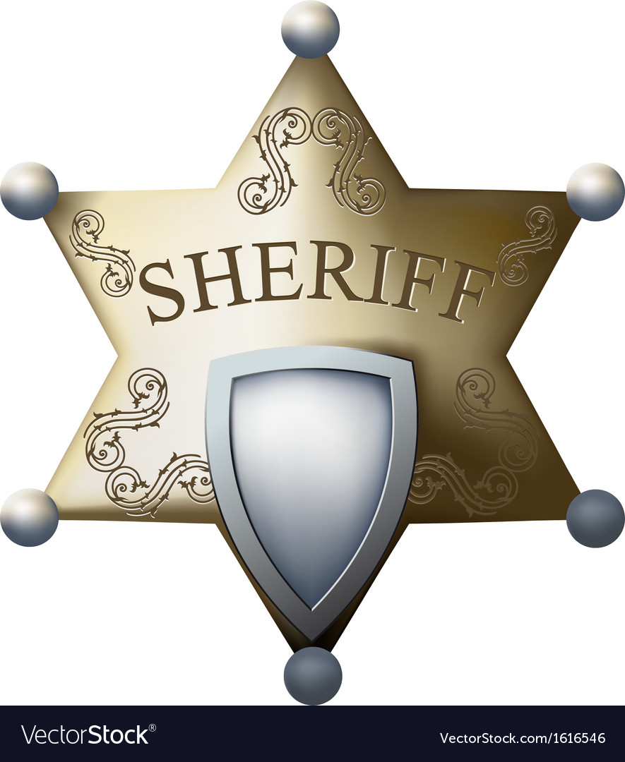 Sheriff bage vector | Price: 1 Credit (USD $1)