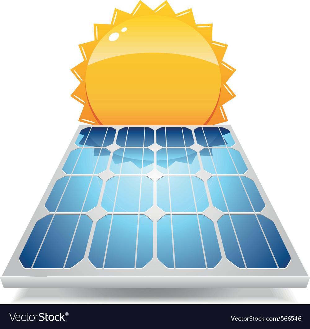 Solar panel vector | Price: 1 Credit (USD $1)