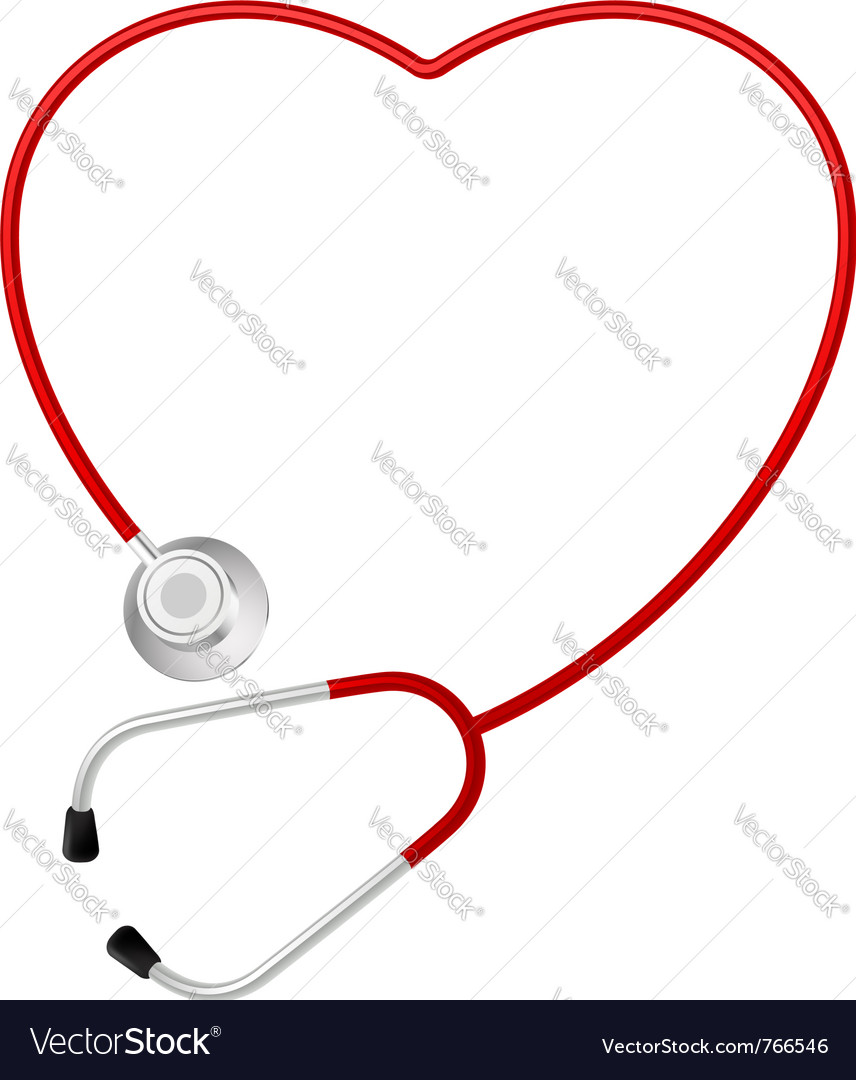 Stethoscope heart symbol vector | Price: 1 Credit (USD $1)
