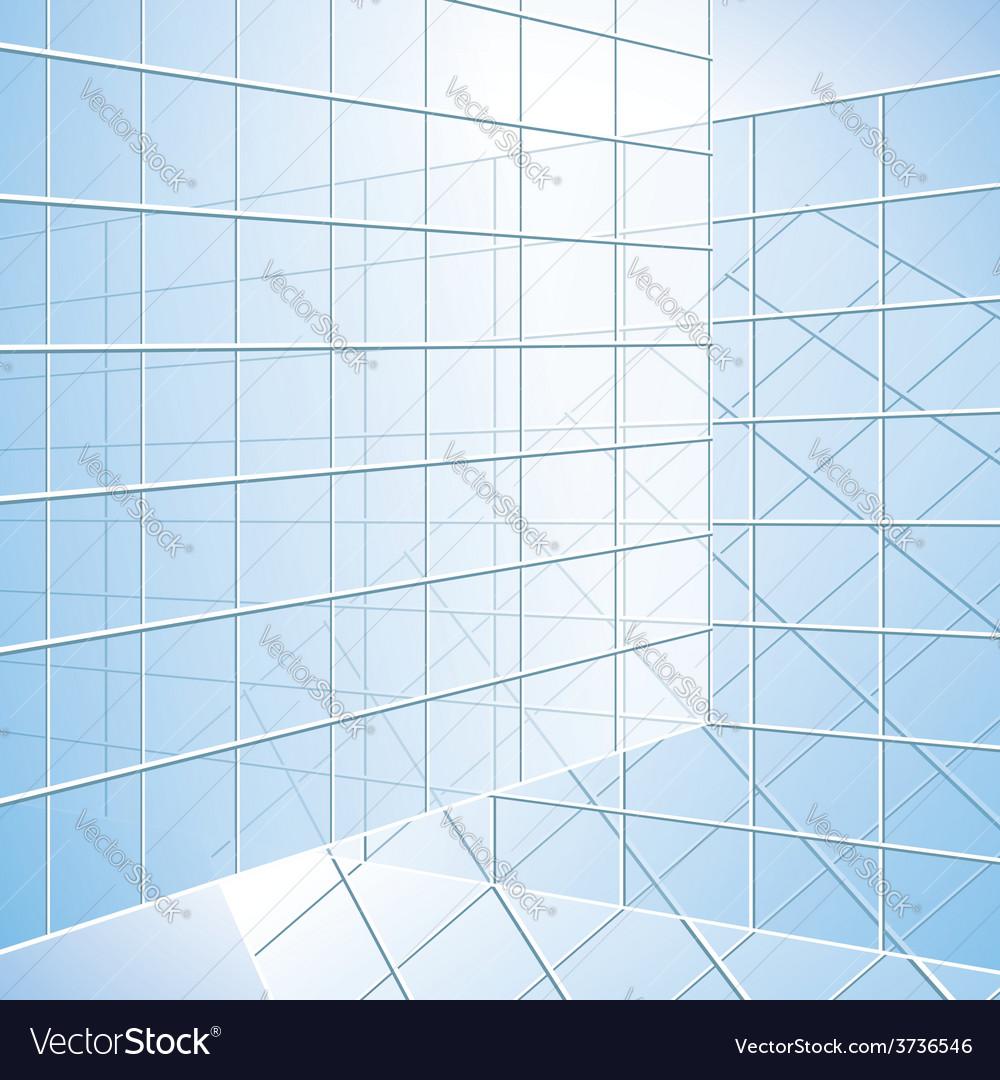 Transparent wall - blue windows vector | Price: 1 Credit (USD $1)