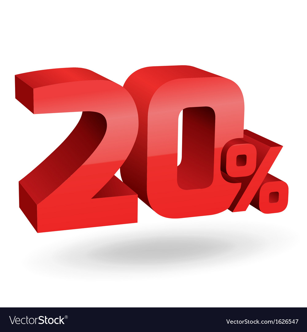 20 percent digits vector | Price: 1 Credit (USD $1)