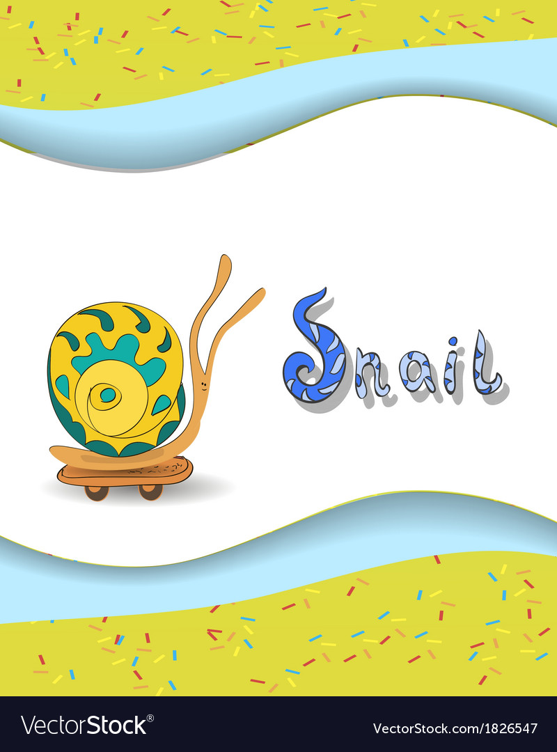 Animal alphabet letter s and snai vector | Price: 1 Credit (USD $1)