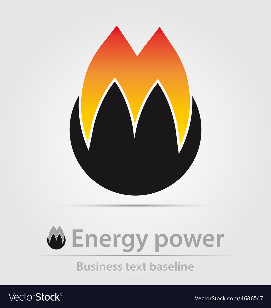 Energy power business icon vector | Price: 1 Credit (USD $1)