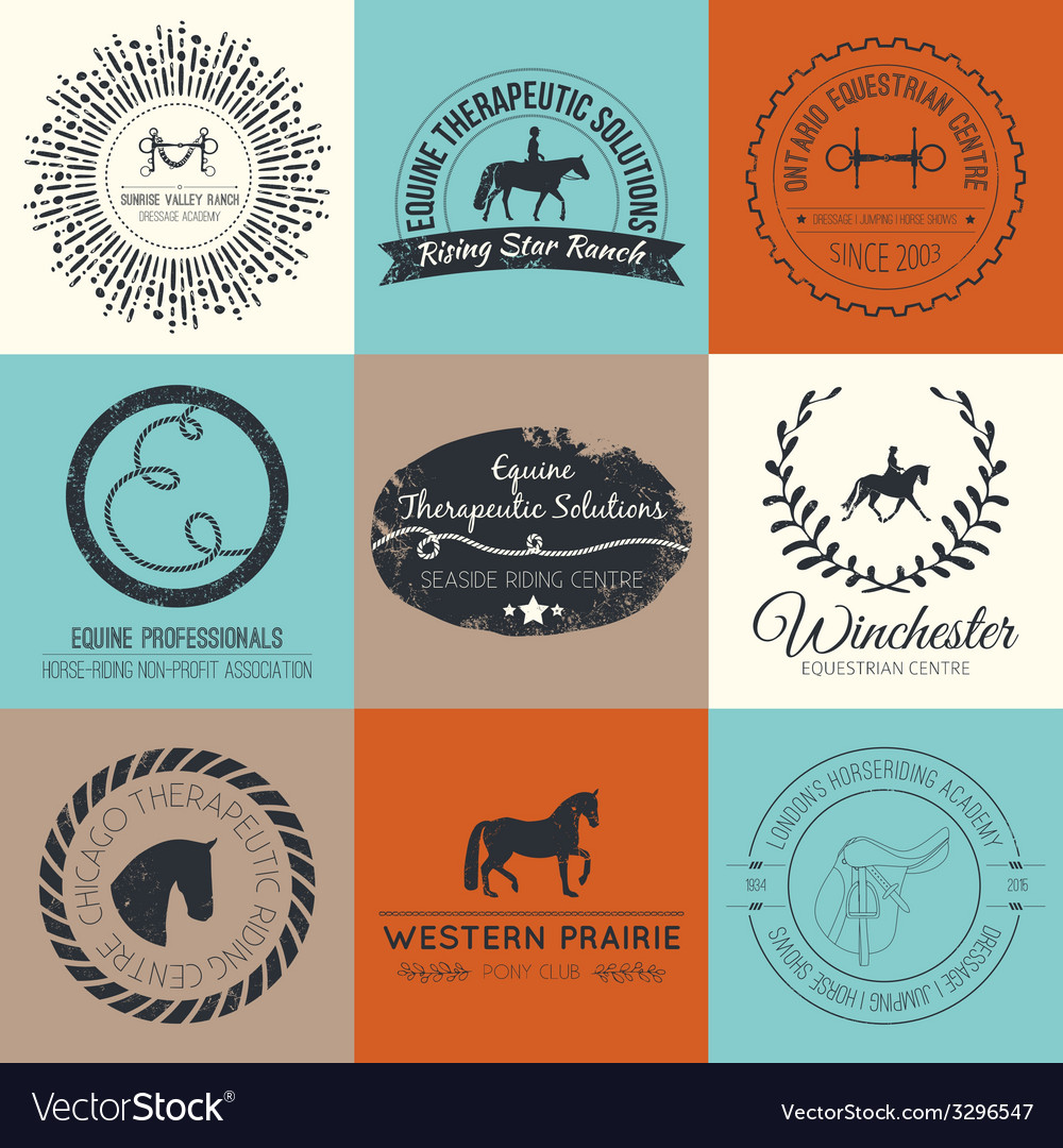 Equine logo vector | Price: 1 Credit (USD $1)