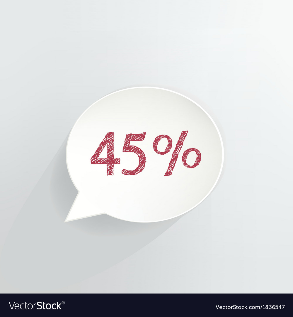 Forty five percent discount vector | Price: 1 Credit (USD $1)