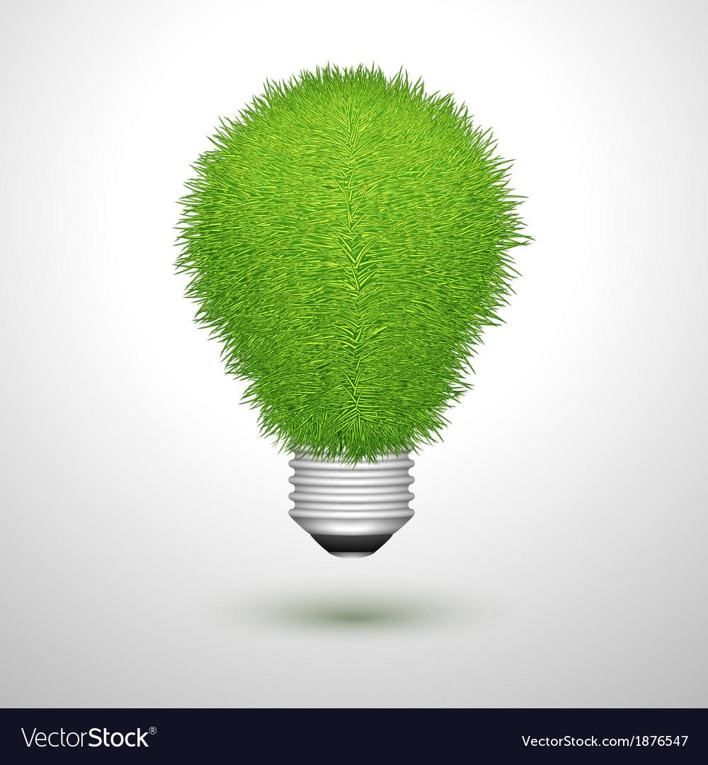 Green creative lightbulb isolated vector | Price: 1 Credit (USD $1)