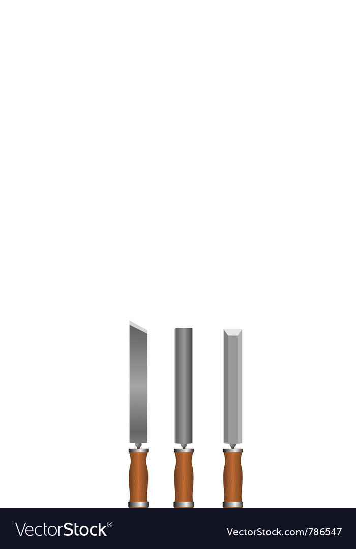 Set of chisels vector | Price: 1 Credit (USD $1)