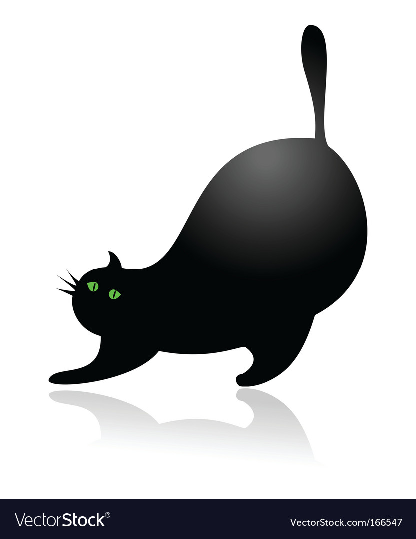 Stretching cat vector | Price: 1 Credit (USD $1)