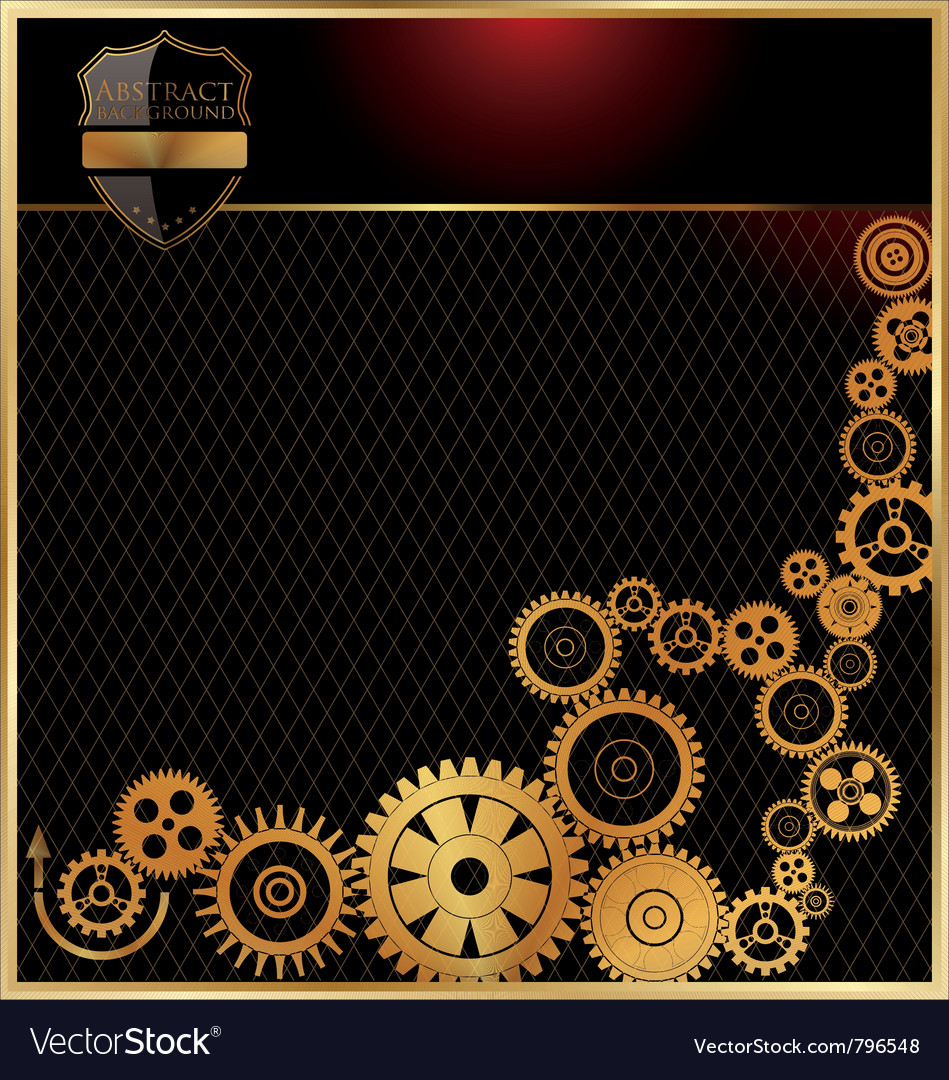 Abstract gears background vector | Price: 1 Credit (USD $1)