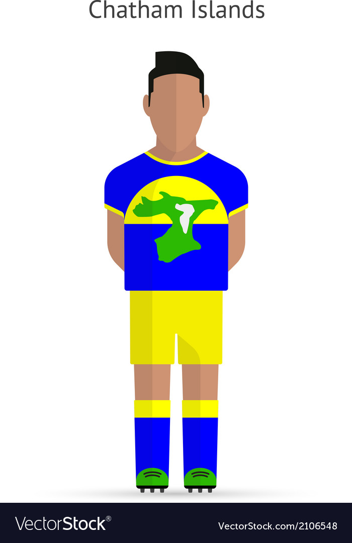 Chatham islands football player soccer uniform vector | Price: 1 Credit (USD $1)