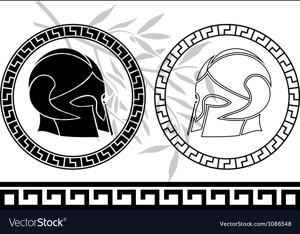 Fantasy ancient helmets vector | Price: 1 Credit (USD $1)