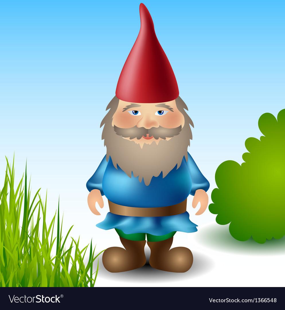 Garden gnome vector | Price: 1 Credit (USD $1)