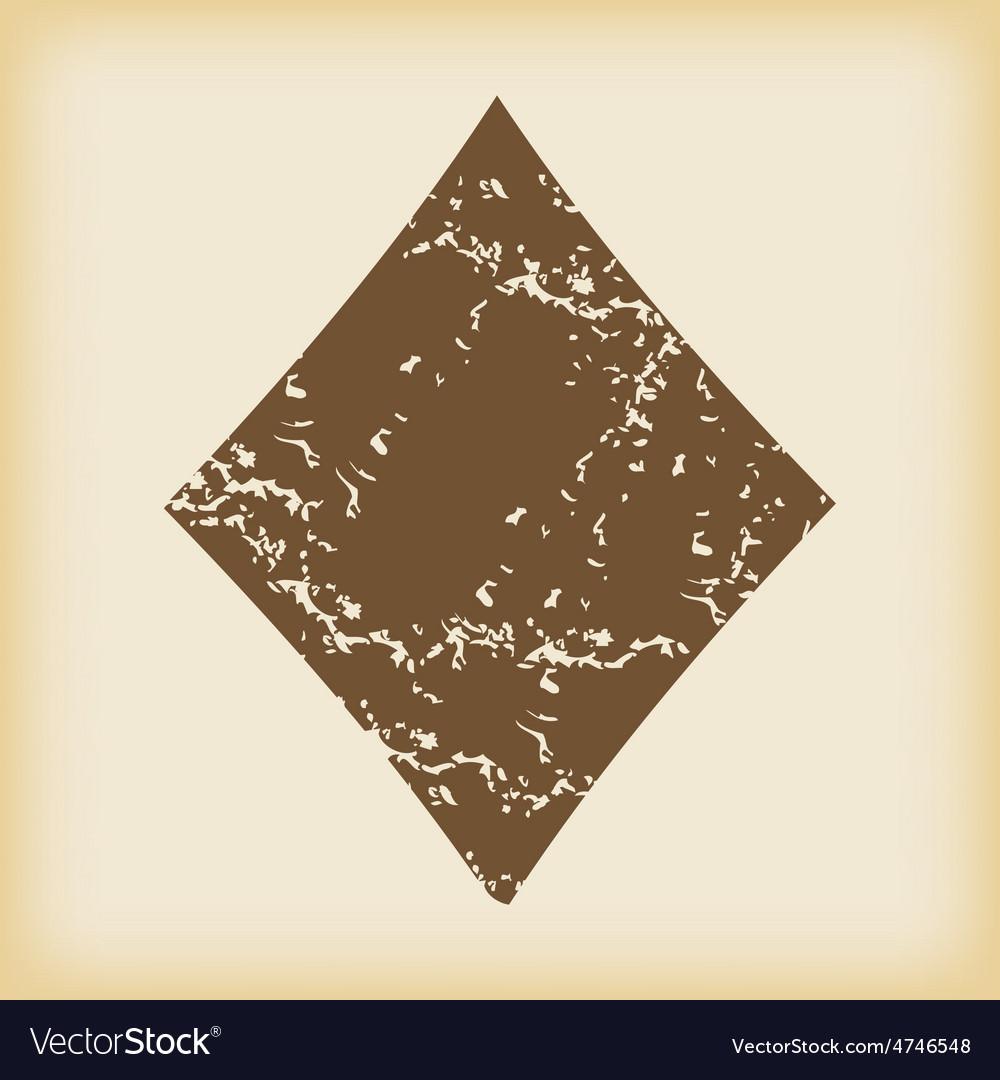 Grungy diamonds icon vector | Price: 1 Credit (USD $1)