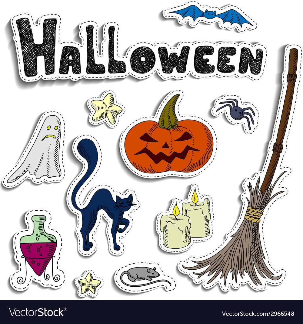 Halloween elements vector | Price: 1 Credit (USD $1)