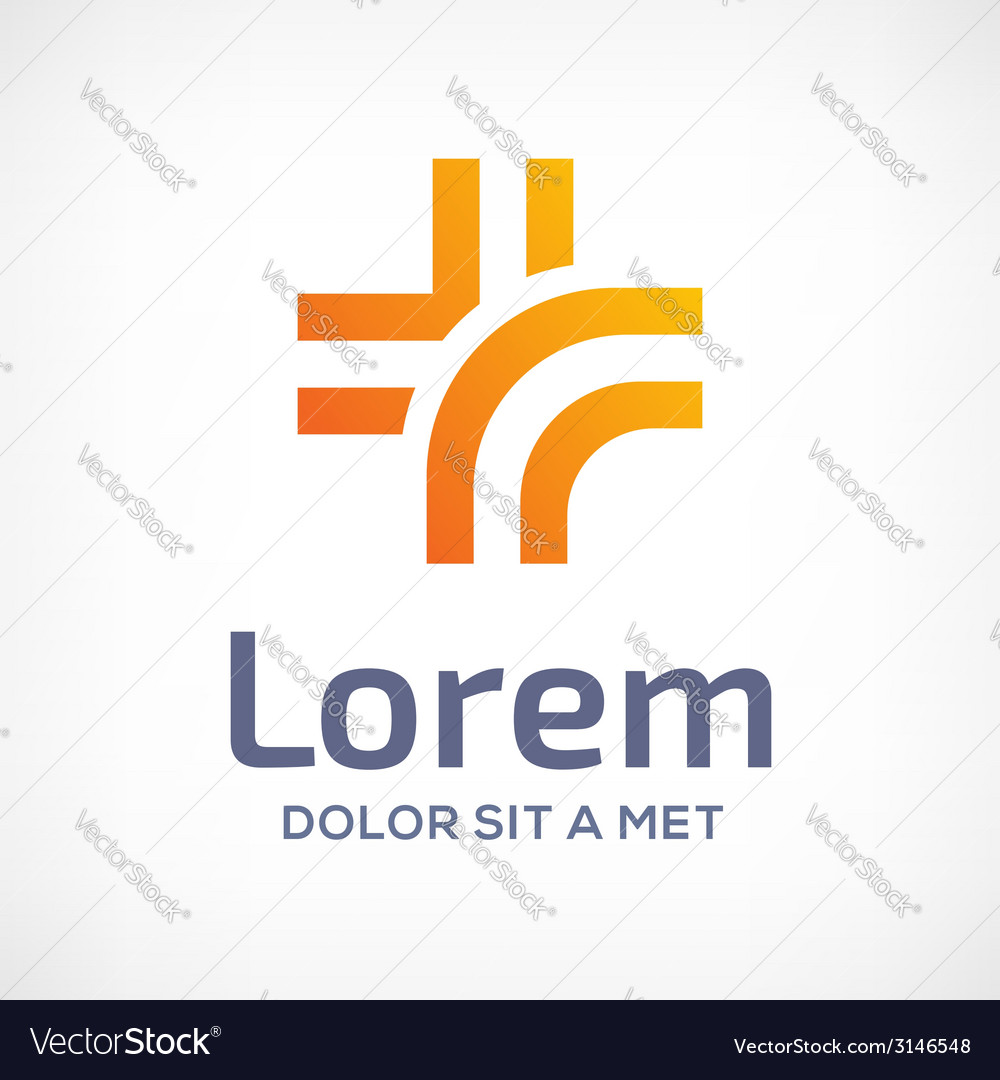 Medical logo design template icon with cross and vector | Price: 1 Credit (USD $1)