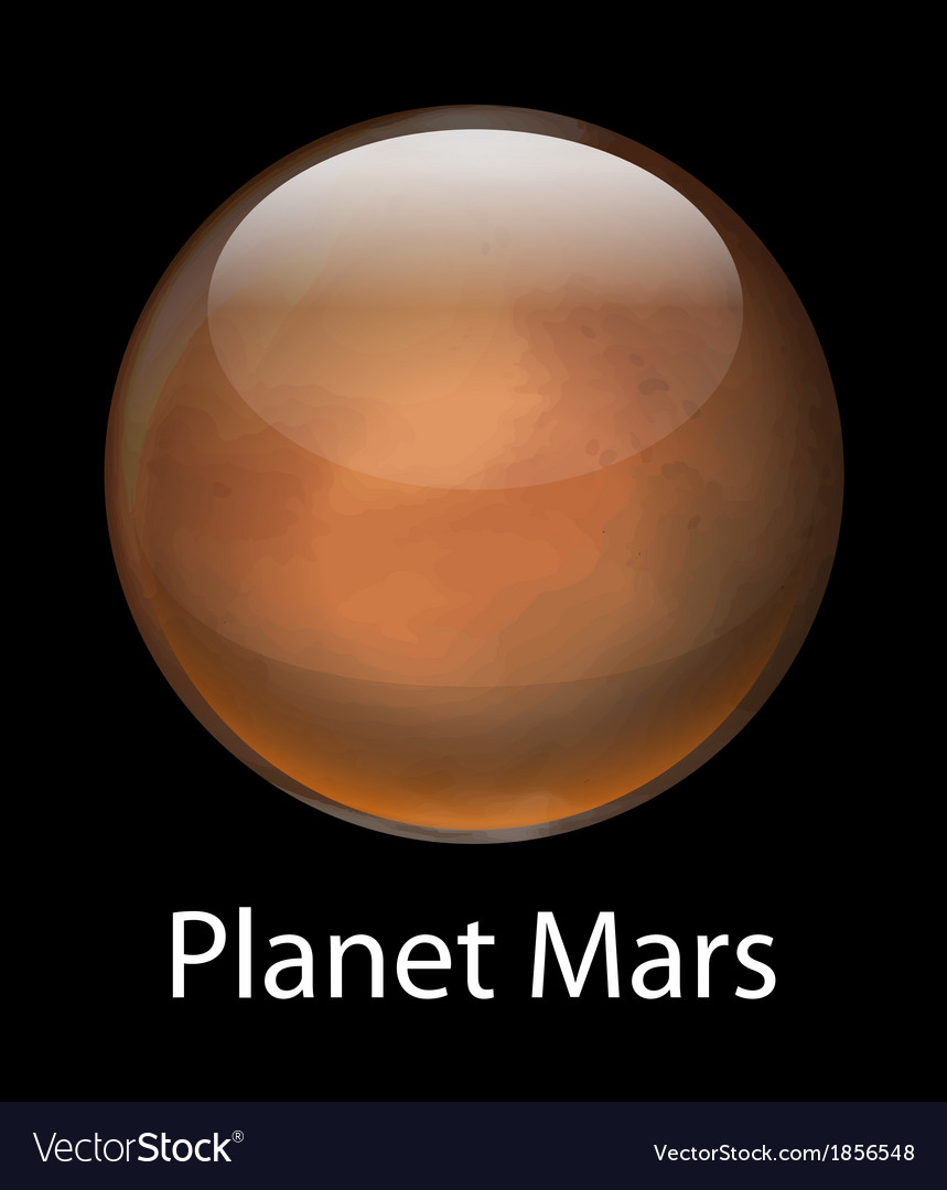 Planet mars vector | Price: 1 Credit (USD $1)