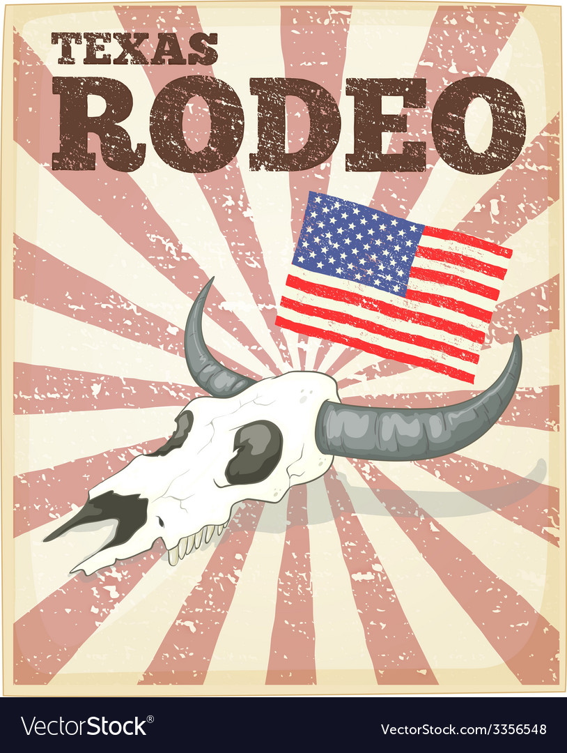 Rodeo poster vector | Price: 1 Credit (USD $1)