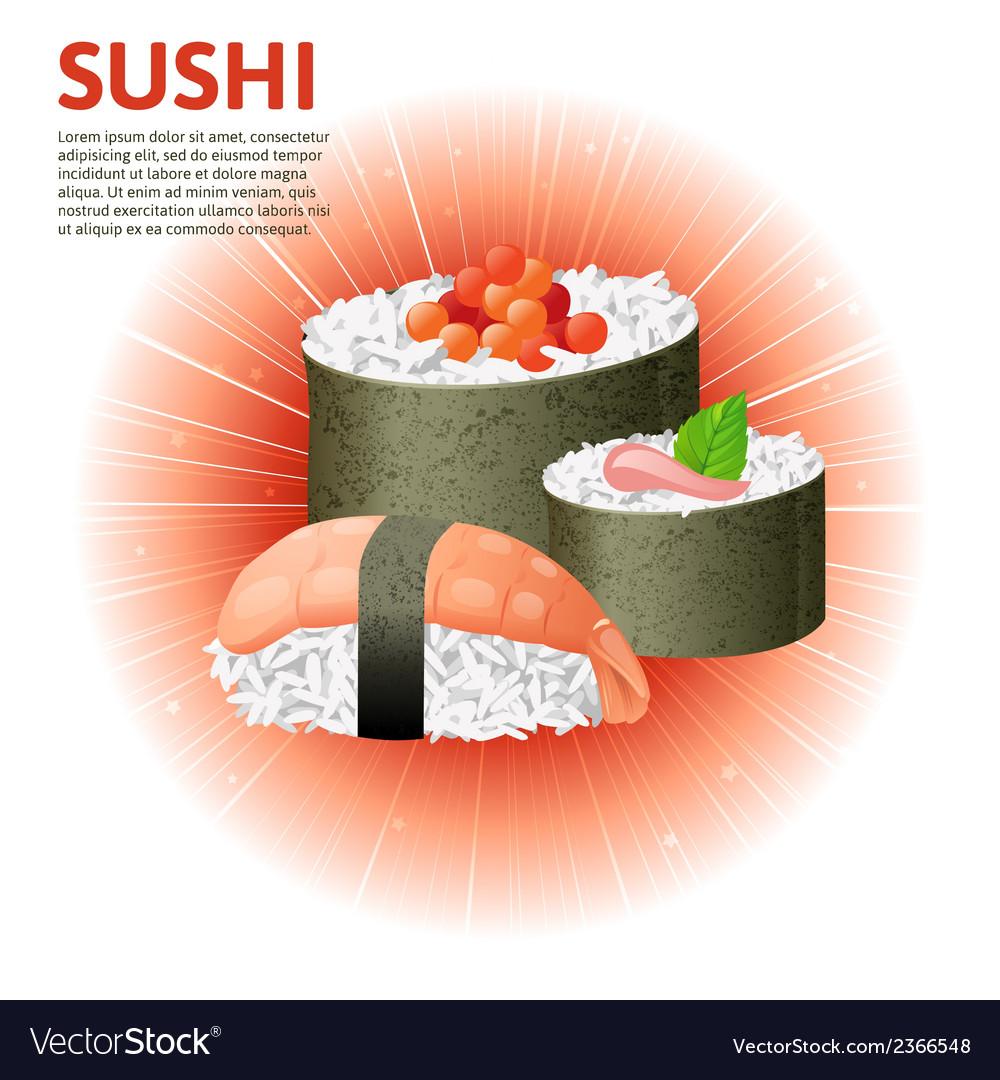 Sushi set vector | Price: 1 Credit (USD $1)