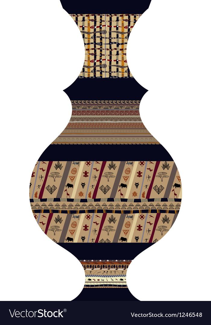 Tribal vase vector | Price: 1 Credit (USD $1)