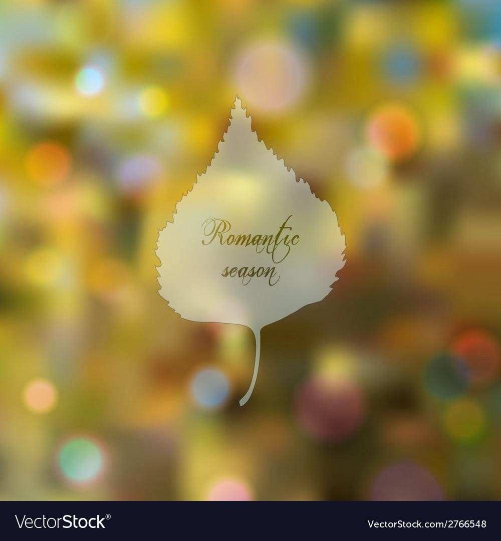 Wonderful bokeh autumn background vector   Price: 1 Credit (USD $1)