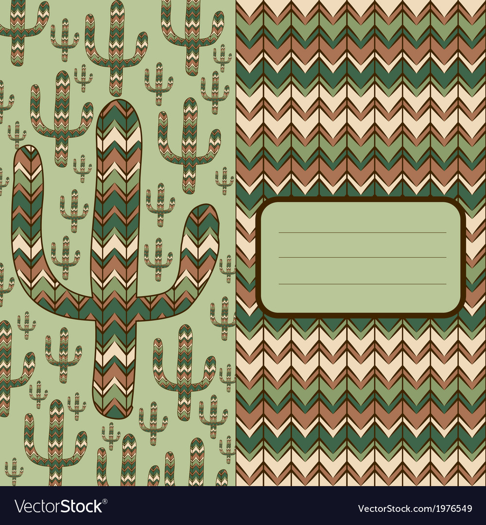 Background with cactus vector | Price: 1 Credit (USD $1)