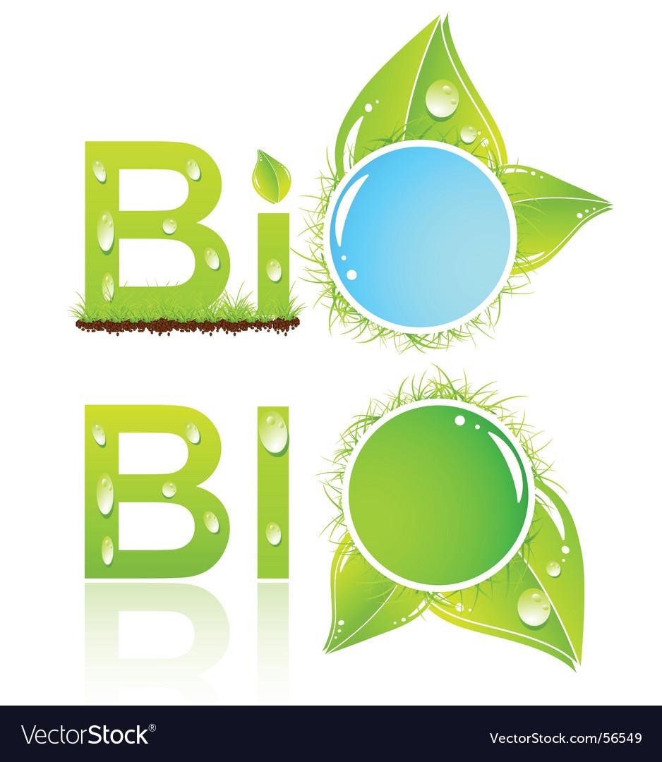Bio logo vector | Price: 1 Credit (USD $1)