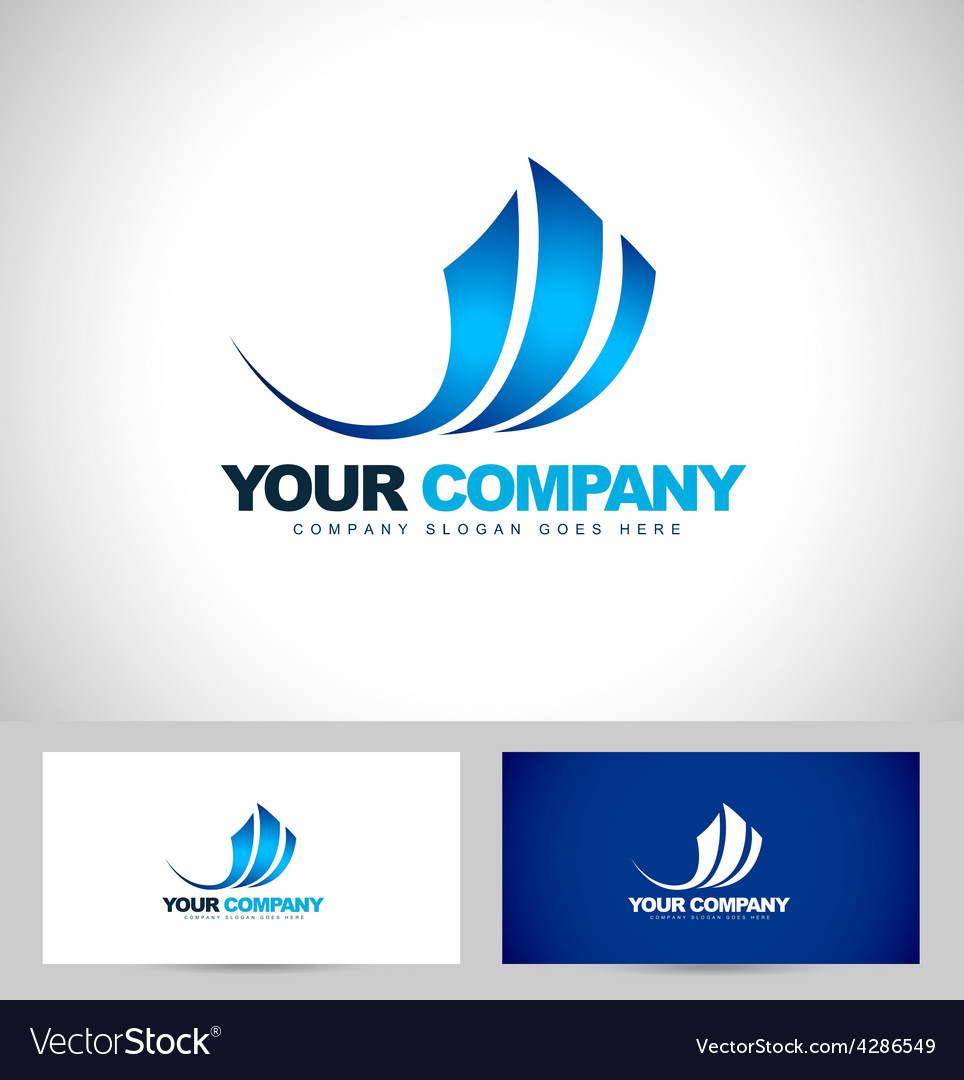 Blue swash logo design vector | Price: 1 Credit (USD $1)
