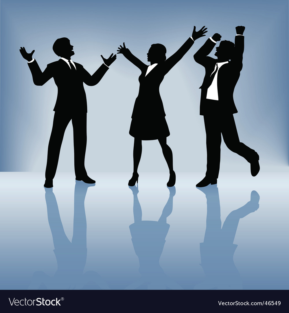 Business people celebrate vector | Price: 1 Credit (USD $1)