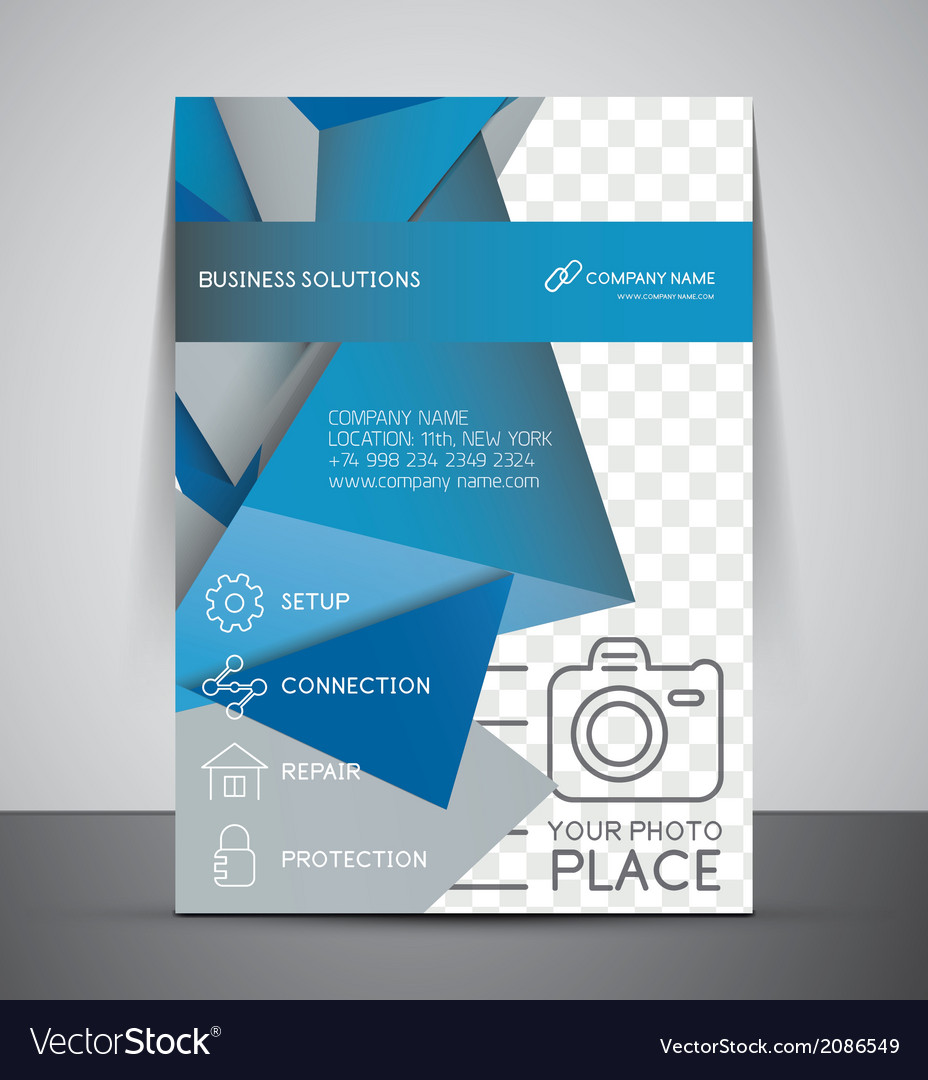 Cmyk business corporate flyer template vector | Price: 1 Credit (USD $1)