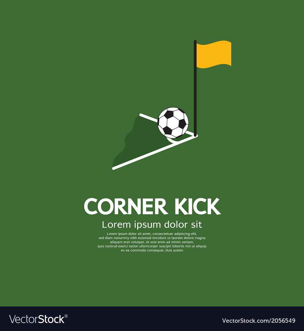 Corner kick vector | Price: 1 Credit (USD $1)