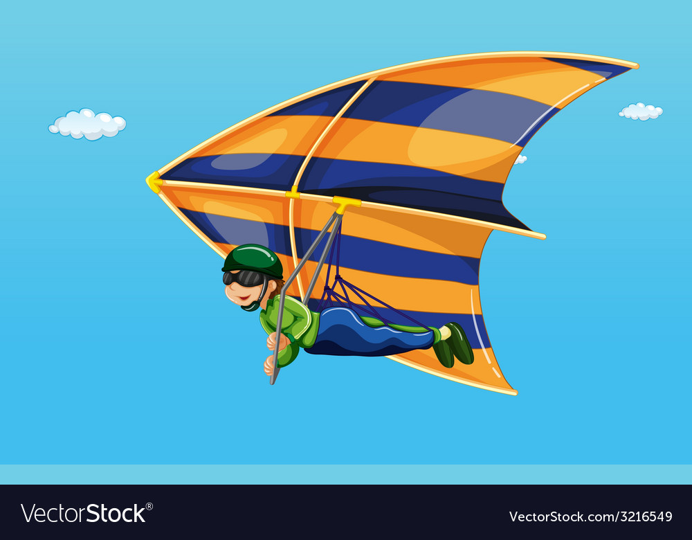 Hang gliding vector | Price: 1 Credit (USD $1)