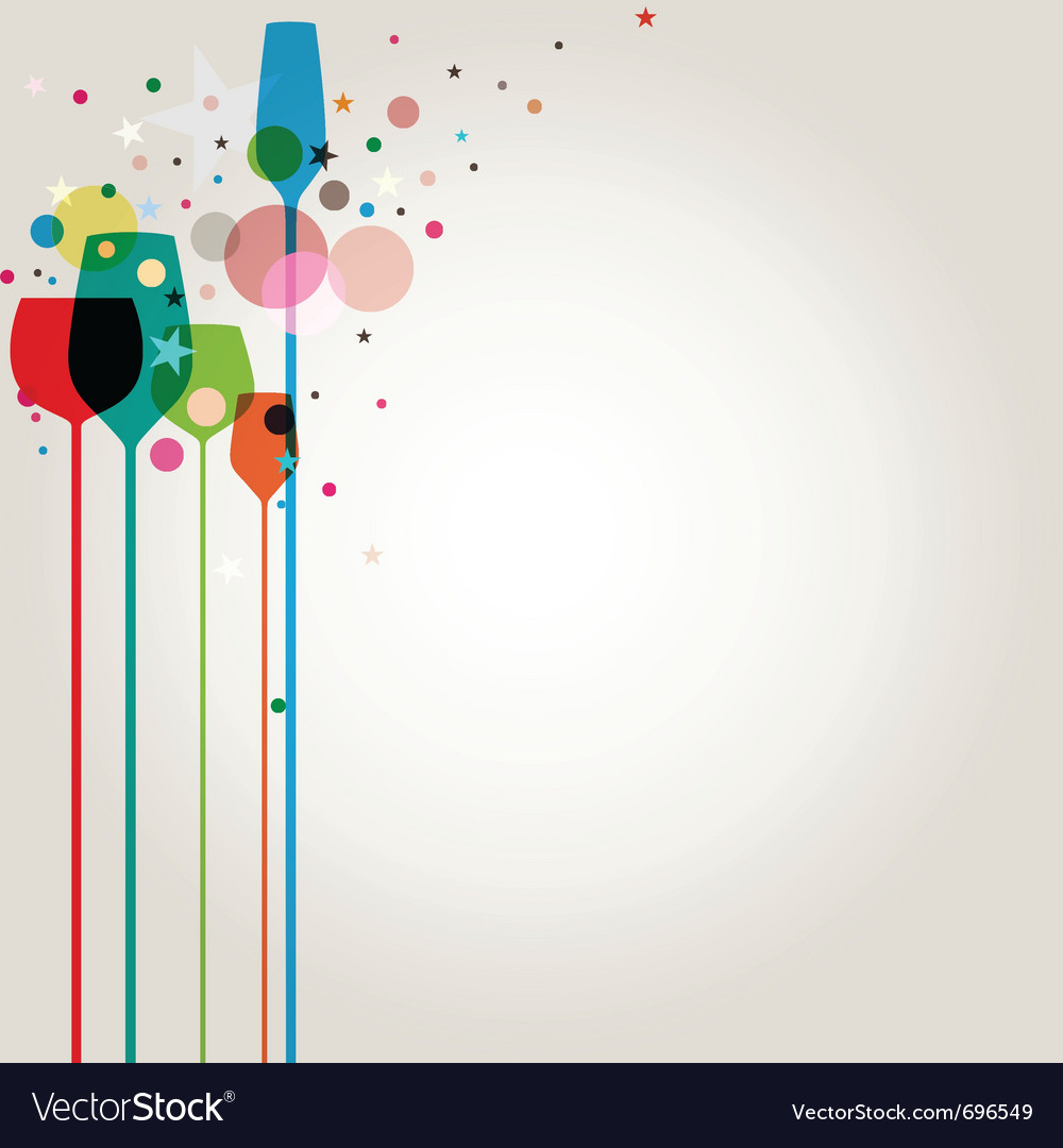 Lets party background vector | Price: 1 Credit (USD $1)
