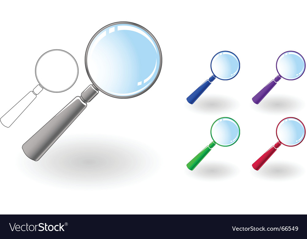 Magnifier set vector | Price: 1 Credit (USD $1)