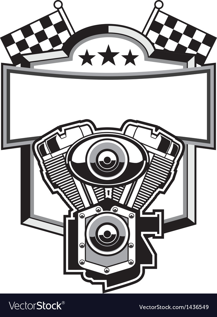 Motorbike club badge vector | Price: 1 Credit (USD $1)