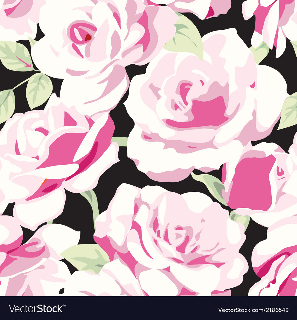 Pattern with roses vector | Price: 1 Credit (USD $1)