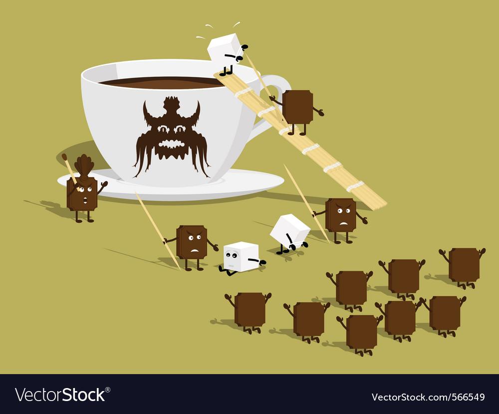 Sugar coffee vector | Price: 3 Credit (USD $3)