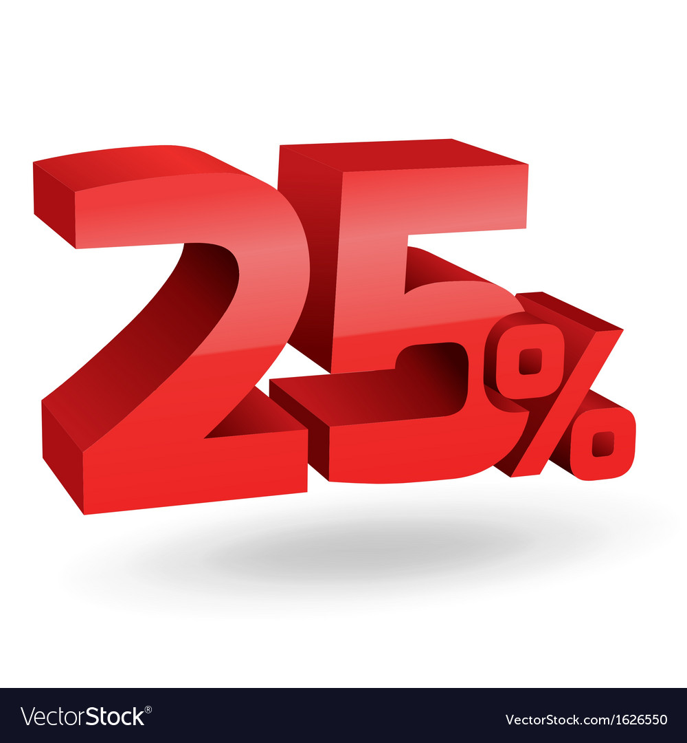 2875 25 percent vector | Price: 1 Credit (USD $1)