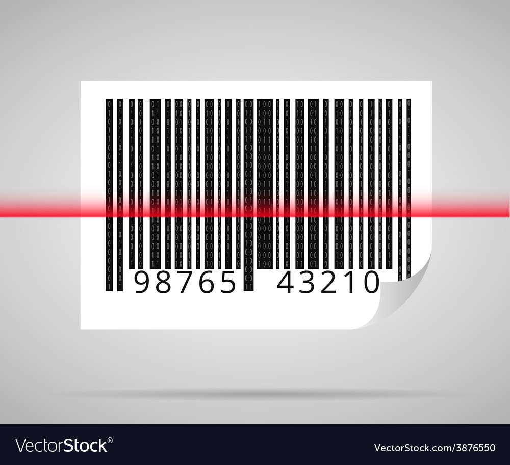Barcode scanning vector | Price: 1 Credit (USD $1)